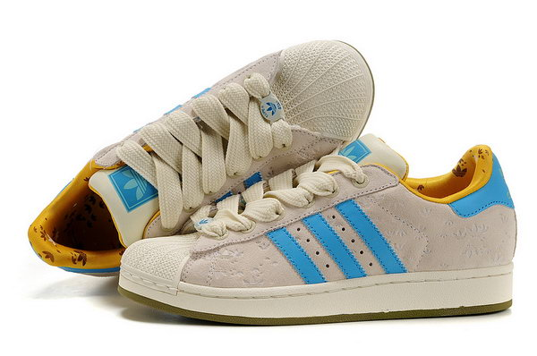 Womens Adidas Superstar Floret Beige Blue Canada